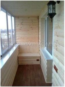 балкон из блок хауса