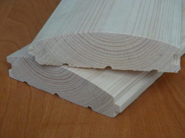 Блок хаус сосна 130(135) * 35 * 4000(4500)мм 1-й сорт