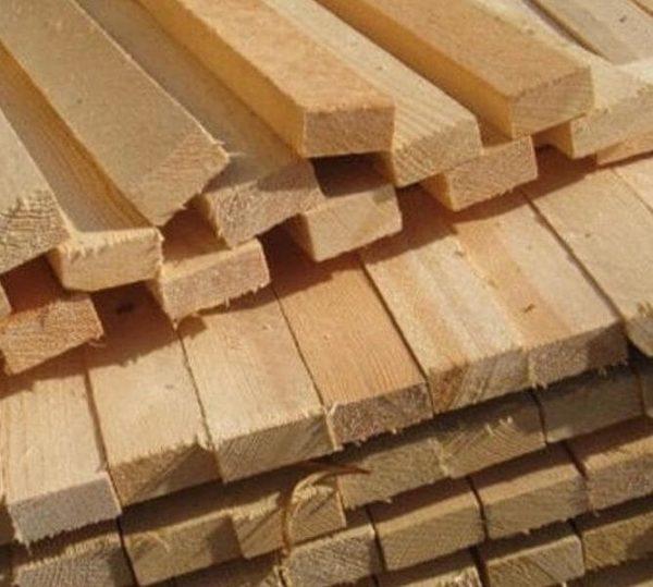 Дерев'яна рейка сосна 30 * 40 * 2000-3000 мм